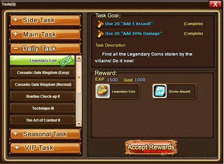 Legendary Coin/Amulet